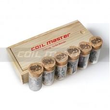 COIL MASTER SCATOLA LEGNO CON 60 FLAT TWISTED COIL (conf 6pz)